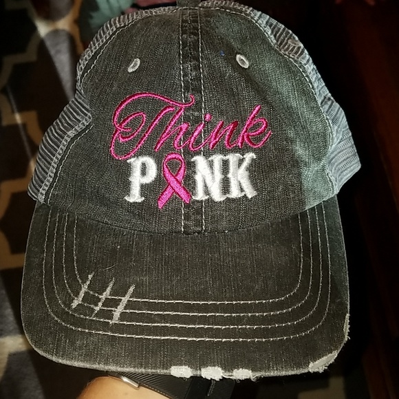 e02597ff1d0d6 Accessories - Think pink breast cancer trucker hat